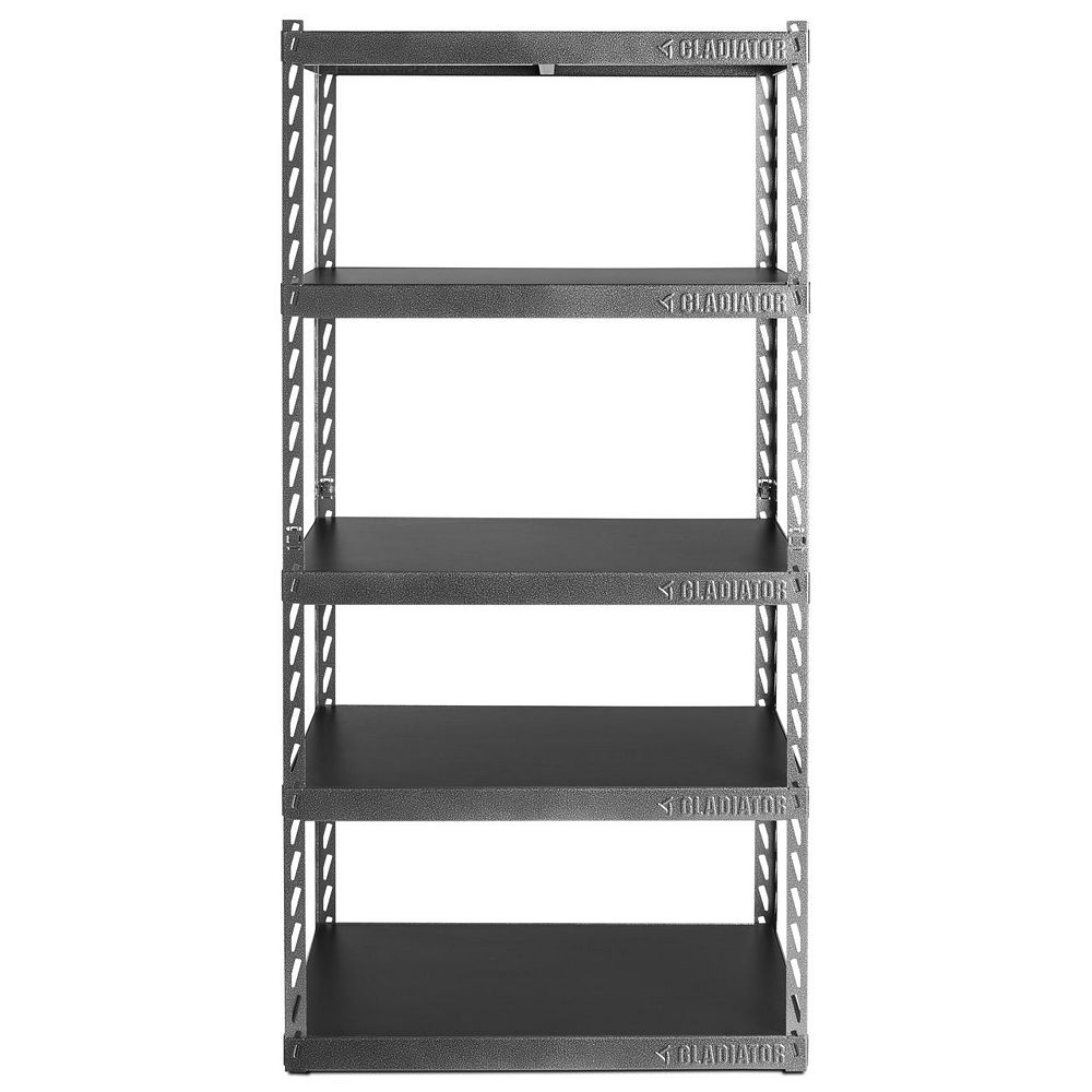 Gladiator EZ Connect 36-inch W Rack with Five 18-inch D Shelves in Hammered Granite
