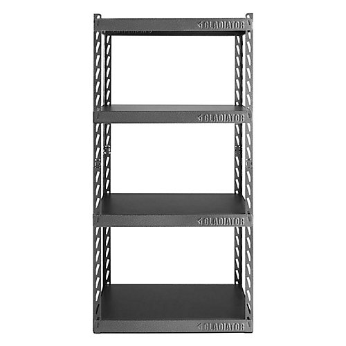 EZ Connect 30-inch W Rack with Four 15-inch D Shelves in Hammered Granite