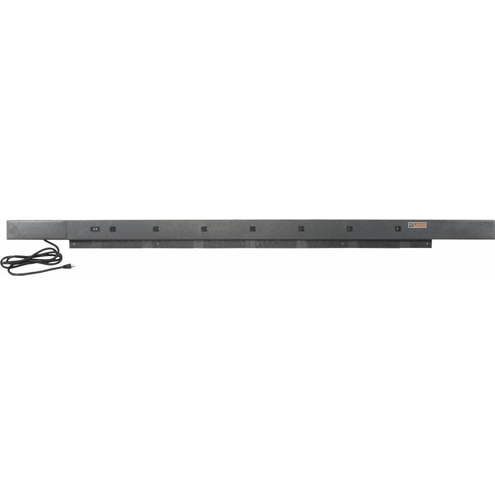 Gladiator 6 ft. or 8 ft. 9-Outlet Workbench Power Strip with Tool Caddy Extensions in Hammered Granite