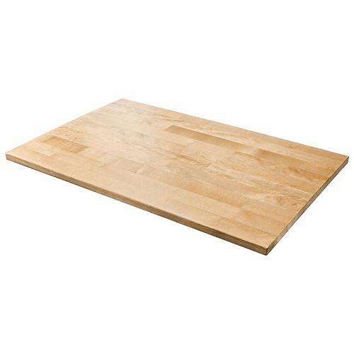 Plan de travail en bois dur de 28 po W pour armoires de garage prêtes à assembler