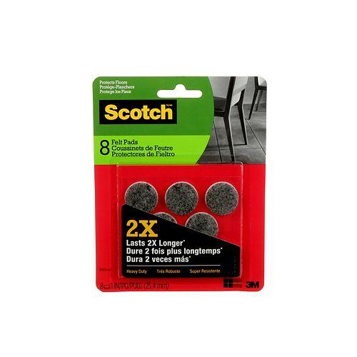 Heavy Duty Felt Pads, SP870-NA, grey, 1 inch (2.54 cm), 8 per pack
