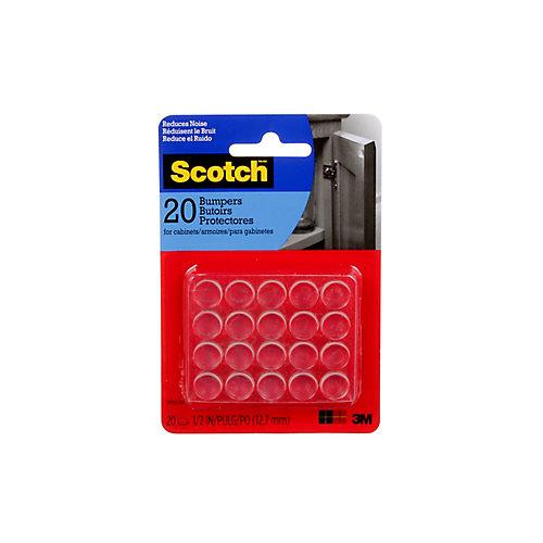 Self-Stick Rubber Bumpers, SP950-NA, clear, 0.5 inch (1.27 cm), 20 per pack