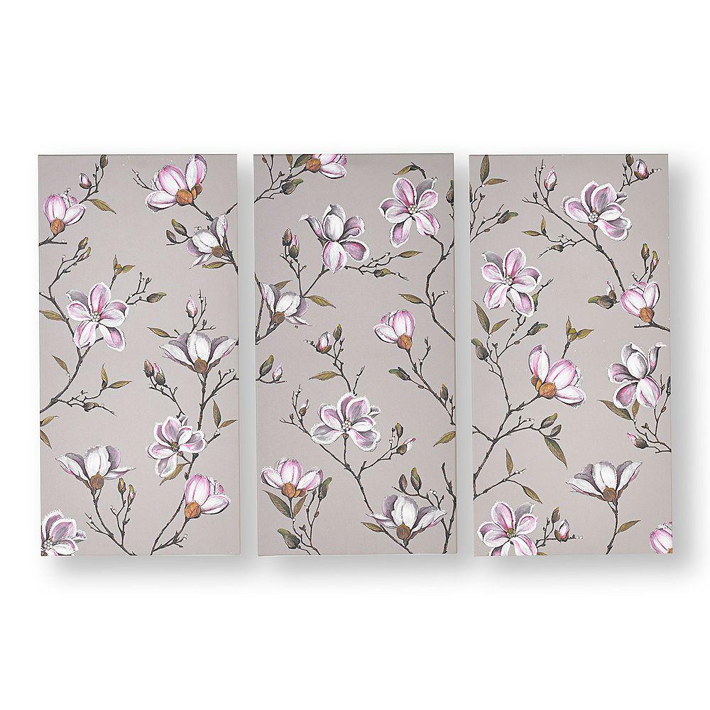 Graham & Brown Set of 3 Magnolia Daydream Printed Canvas Wall Art