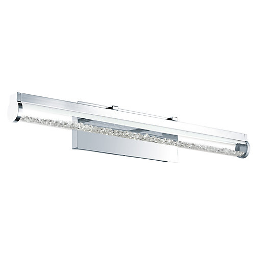Trevelo 1 - LED Vanity Light, Chrome Finish with Clear Glass & Clear Crystal