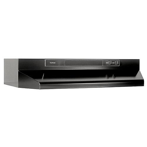 Hotte de cuisinière sous-armoires 30 po 190 pi3/min de couleur noire