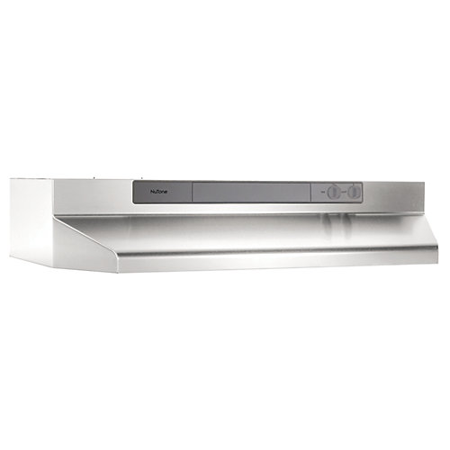 Hotte de cuisinière sous-armoires 30 po 190 pi3/min en acier inoxydable