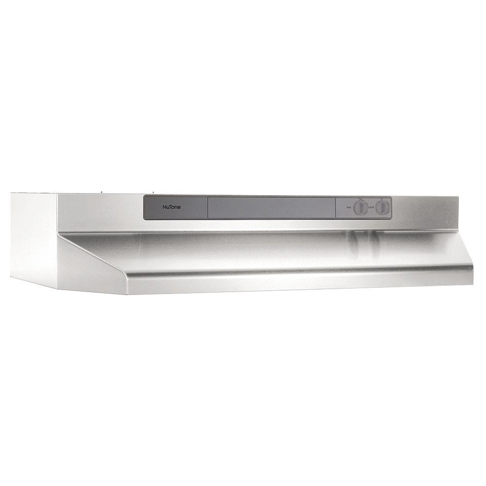 Broan-NuTone 30 Inch Under Cabinet Range Hood, 260 Max Blower CFM, Stainless Steel