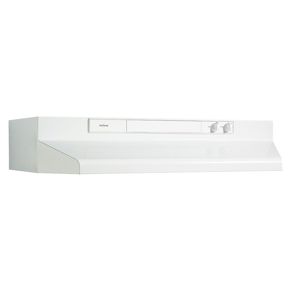 Broan-NuTone 30 Inch Under Cabinet Range Hood, 260 Max Blower CFM, White