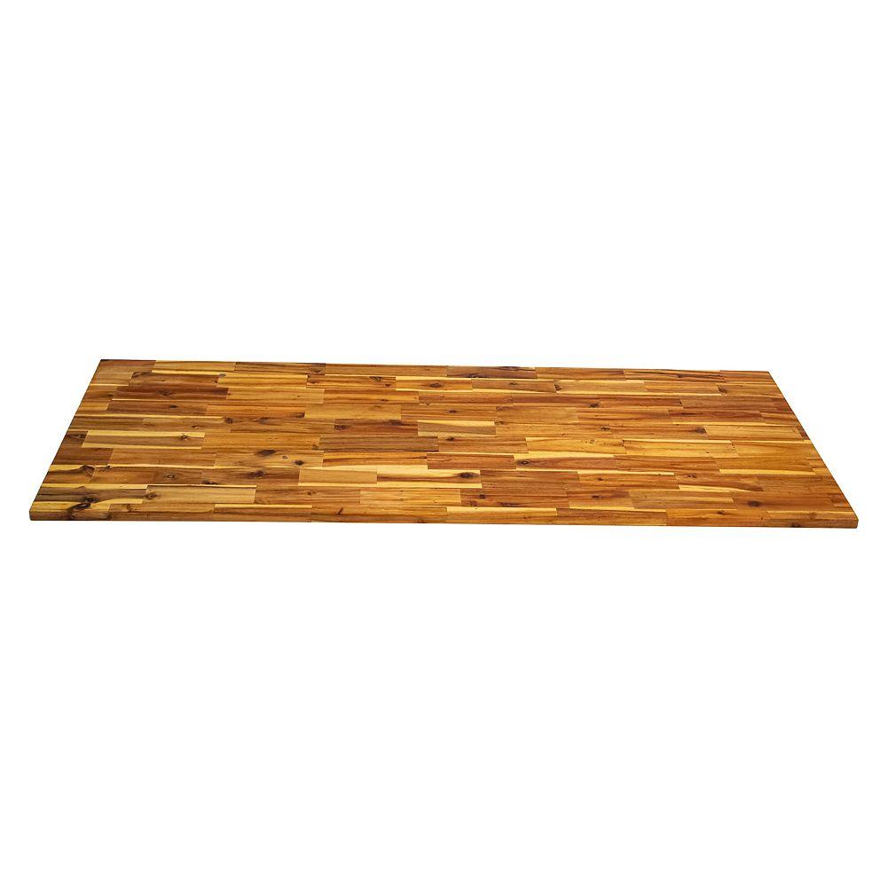 INTERBUILD 72 inch  x 25.5 inch  x 1.5 inch Wood Kitchen Countertop Light Oak