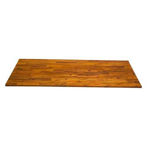72 inch x 25.5 inch x 1.5 inch Wood Kitchen Countertop Golden Teak