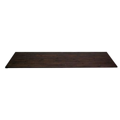 96 inch  x 25.5 inch  x 1 inch  Acacia Wood Kitchen Countertop Espresso