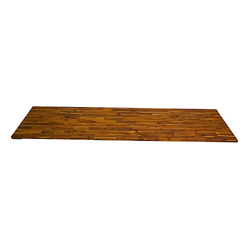 96 inch x 25.5 inch x 1.5 inch Acacia Wood Kitchen Countertop Golden Teak