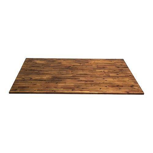 74 inch  x 36 inch  x 1 inch Wood Kitchen Islandtop Brown