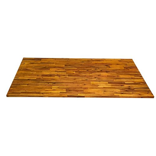 Comptoir de cuisine en bois  chêne clair - 74 po x 40 po x 1 po