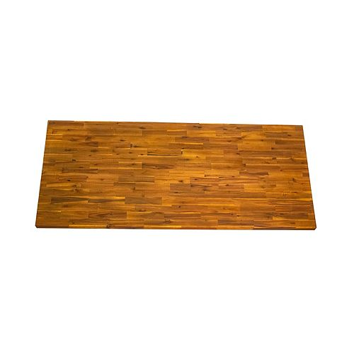 Acacia Countertop 74 in x 40 in x 1 in, Golden Teak Hardwax Wood Oil Finish