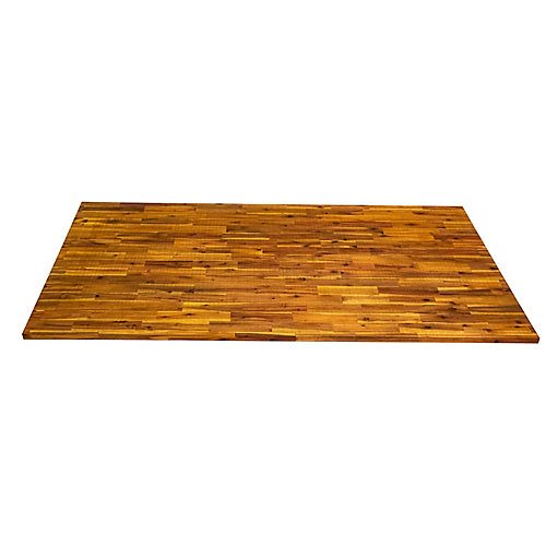 74 inch x 40 inch x 1.5 inch Acacia Wood Kitchen Islandtop Light Oak