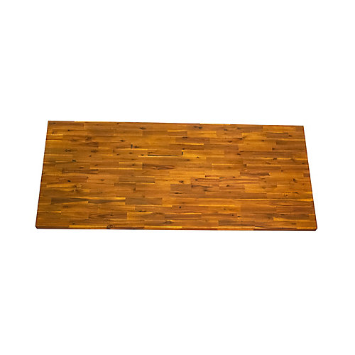 74 inch x 40 inch x 1.5 inch Acacia Wood Kitchen Islandtop Golden Teak