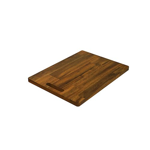 INTERBUILD 16 inch x 12 inch x 0.75 inch Butcher Block Cutting Boards Brown