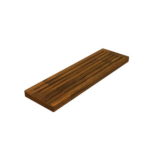 INTERBUILD 6 inch x 20 inch x 1 inch Butcher Block Cutting Boards Brown