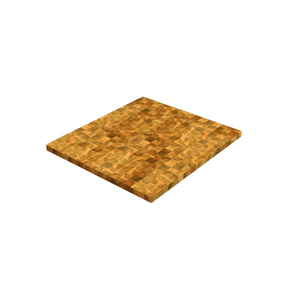 INTERBUILD Panneaux de découpe en bloc de charcuterie chêne clair 40 po x 25.5 po x 1.5 po