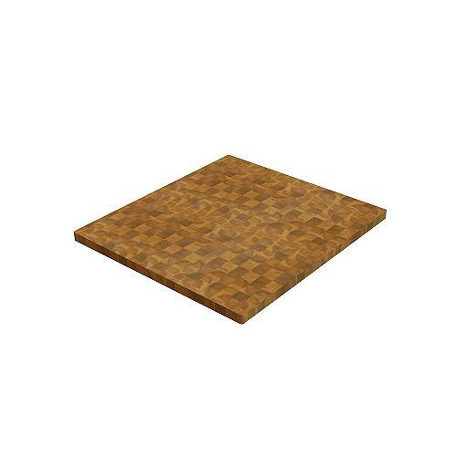 Panneaux de découpe en bloc de charcuterie  doré 40 po x 25.5 po x 1.5 po