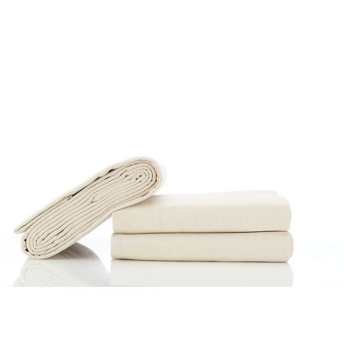 Stain Pro Heavy Duty Cotton Canvas 12ft x 15ft (3.66m x 4.57m) Drop Cloth - (2-Pack)