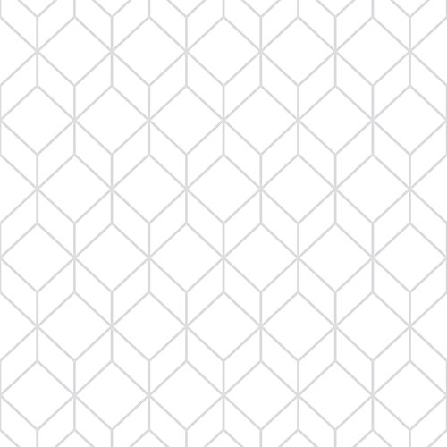Myrtle Geo White/Silver Removable Wallpaper