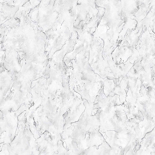 Marble White/Grey Removable Wallpaper Sample