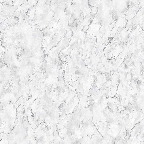 Graham & Brown Marble White/Grey Removable Wallpaper