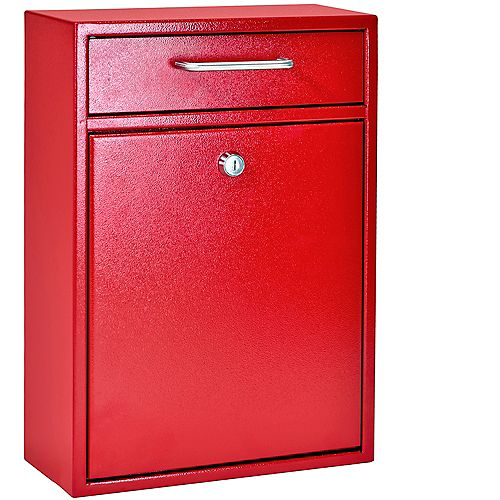 Boîte de dépôt de sécurité verrouillable Rouge Vif