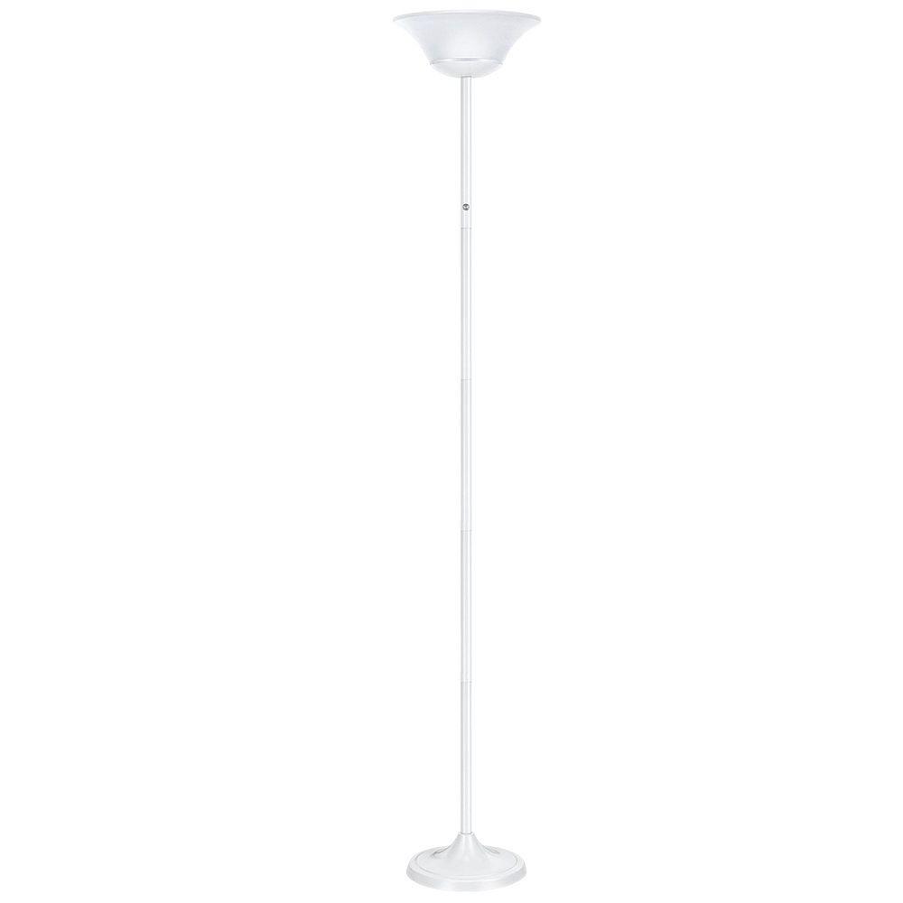 Globe Electric Lampe sur pied de 72In à DEL intégré de 15W, fini blanc mat