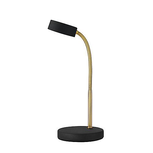 Lampe de bureau à DEL intégrée, fini noir mat - ENERGY STAR®