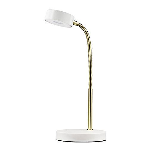 Matte White Integrated LED Desk Lamp - ENERGY STAR®