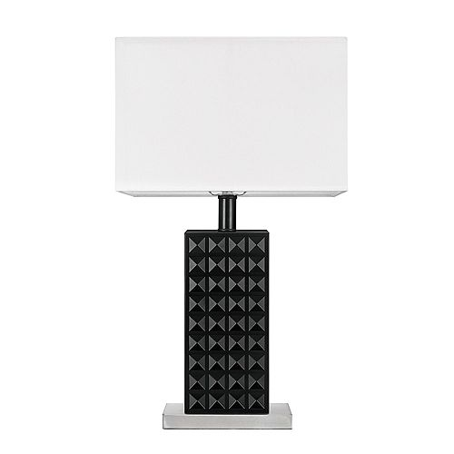 Selina 20-inch Black Table Lamp, LED Bulb Included
