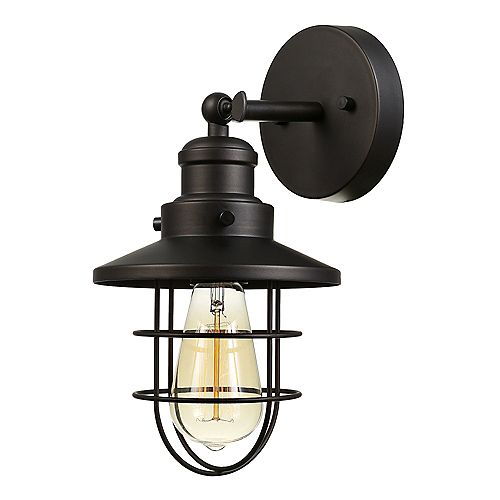 Beaufort 1-Light Wall Sconce in Dark Bronze