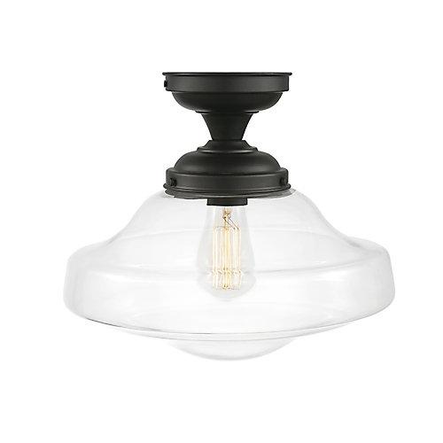 Lucerne 1-Light Dark Bronze Semi-Flush Mount Ceiling Light Fixture