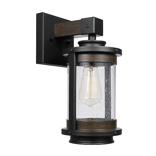 Applique Williamsburg à 1 ampoule, diffuseur en verre granuleux, bronze foncé