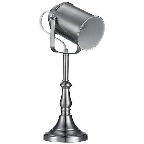Lampe de table Studio, fini en acier brossé