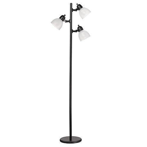 LED for Life 63In 3-Light Matte Black LED Tree Lamp