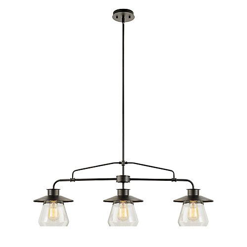 Nate 3-Light Pendant Light Fixture in Oil Rubbed Bronze