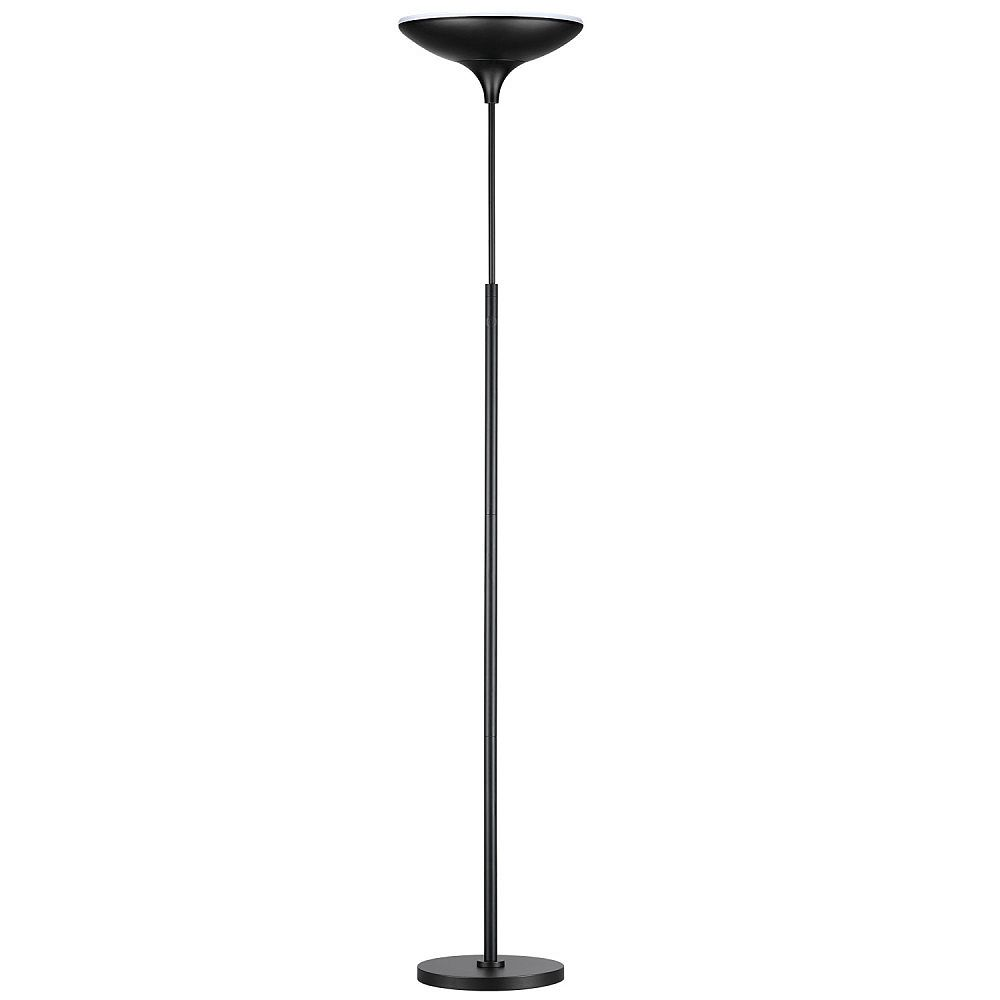 Globe Electric 71-inch Dimmable LED Floor Lamp Torchiere in Matte Black - ENERGY STAR®