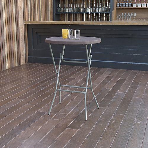 32-inch Dia. Round Plastic Folding Bar Table