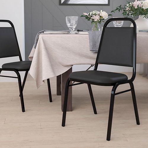 Chaise de banquet à dossier trapèze