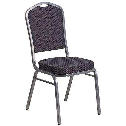 Chaise de banquet à dossier couronne