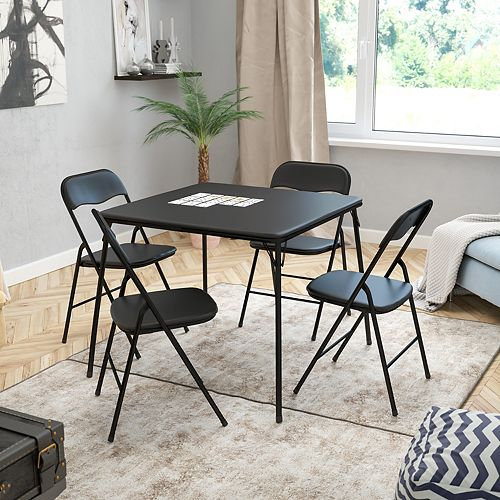5-Piece Folding Card Table Set