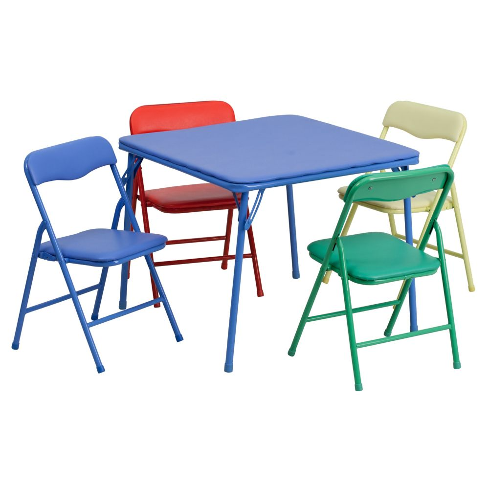 - Flash Furniture 5-Piece Kids Folding Table Set The Home Depot Canada