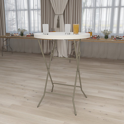 Table de bar pliante ronde en plastique de 81,28cm (32po)