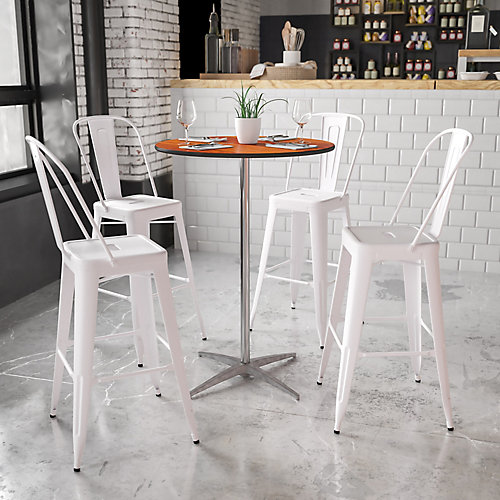 30-inch Dia. Adjustable Height Pub or Cocktail Table