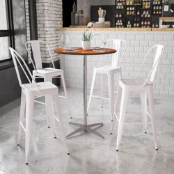 Flash Furniture 30-inch Dia. Adjustable Height Pub or Cocktail Table