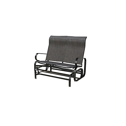 Bahia Patio Gliding Bench in Dark Brown